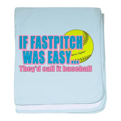 Girls Softball Infant Blanket