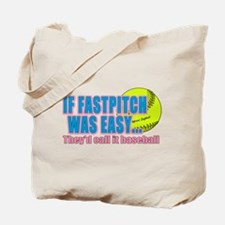 Girls Softball Tote Bag