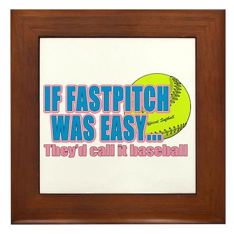 Girls Softball Framed Tile