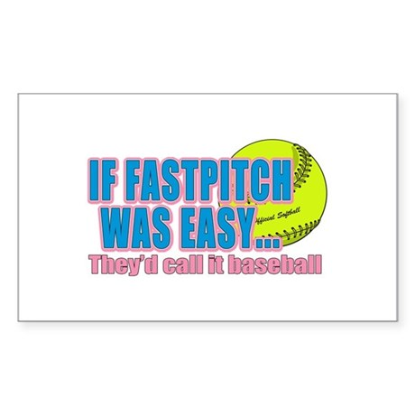 Girls Softball Sticker (Rectangle)