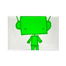 green robobud Rectangle Magnet