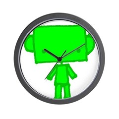 green robobud Wall Clock