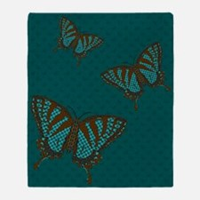 Native Swallowtail Throw Blanket