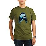 StarTrek Badge Organic Men's T-Shirt (dark)