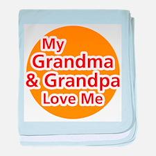 My Grandma and Grandpa Love M Infant Blanket