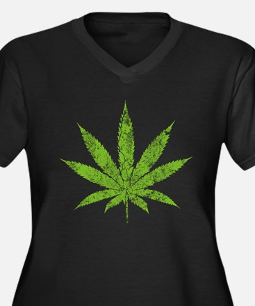 Cannabis 2010 Women's Plus Size V-Neck Dark T-Shir