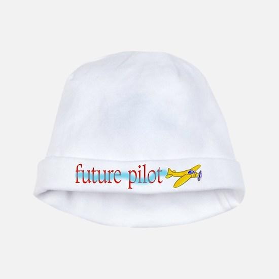 future airplane pilot baby Infant Cap