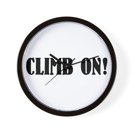 climb on! Wall Clock