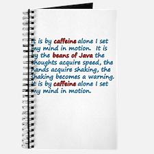 It Is By Caffeine Journal