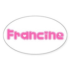 """Francine"" Oval Decal"