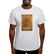 Wisdom Leonardo da Vinci Ash Grey T-Shirt