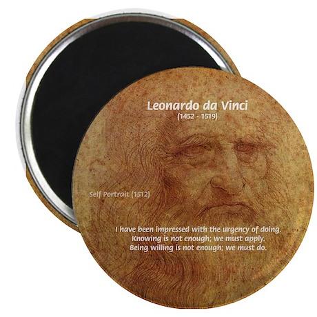 "Wisdom Leonardo da Vinci 2.25"" Magnet (100 pack)"