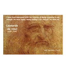 Wisdom Leonardo da Vinci Postcards (Package of 8)