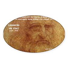 Wisdom Leonardo da Vinci Oval Decal