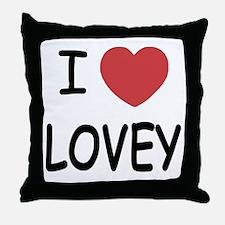 I heart lovey Throw Pillow