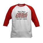 Not Your Bitch Kids Baseball Jersey