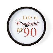 Life Is Wonderful At 90 Wall Clock