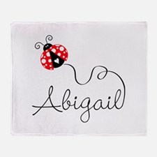 Ladybug Abigail Throw Blanket