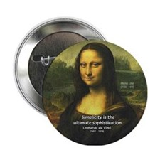 Mona Lisa: Da Vinci Quote Button