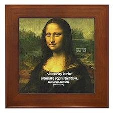 Mona Lisa: Da Vinci Quote Framed Tile