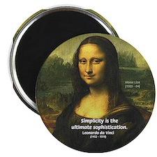 Mona Lisa: Da Vinci Quote Magnet