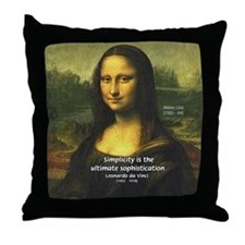 Mona Lisa: Da Vinci Quote Throw Pillow