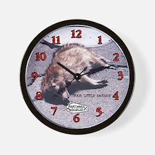 Angry Johnny-Poor Little Raccoon Wall Clock Wall C