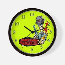 Angry Johnny & The Killbillies Wall Clock