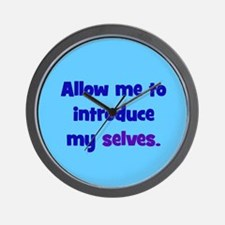 Introduce My Selves Wall Clock