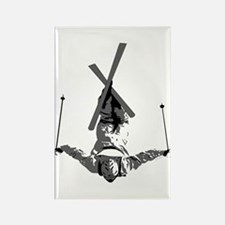 Freestyle Skiing Rectangle Magnet