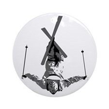 Freestyle Skiing Ornament (Round)