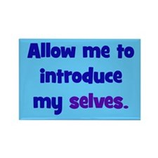 Introduce My Selves Rectangle Magnet (100 pack)