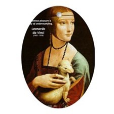Leonardo da Vinci Pleasure Oval Ornament