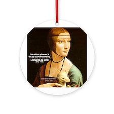 Leonardo da Vinci Pleasure Ornament (Round)