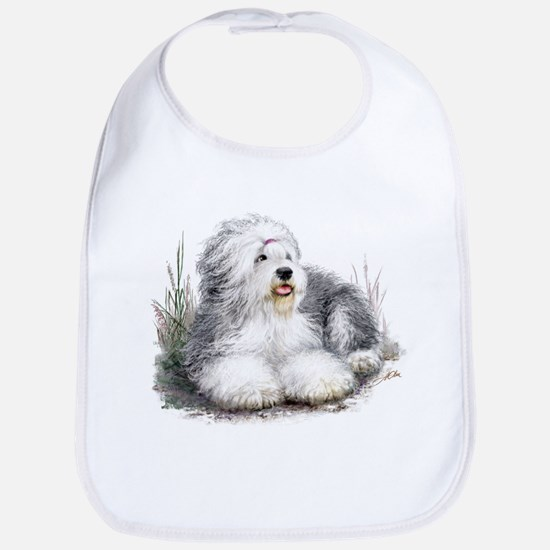 Old English Sheepdog White BIB