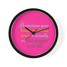 Knight in Tin Foil Wall Clock