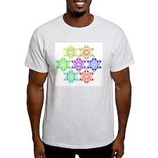 Star Pattern Ash Grey T-Shirt