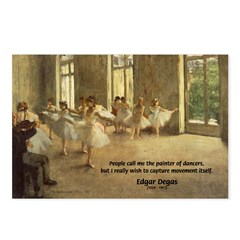 Degas Dancers Quote Postcards (Package of 8)