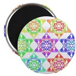 "Star Pattern 2.25"" Magnet (10 pack)"
