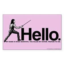Princess Bride Inigo Montoya Bumper Stickers