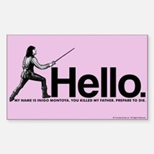 Princess Bride Inigo Montoya Sticker (Rectangle)