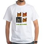 Cats On Catnip White T-Shirt