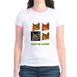 Cats On Catnip Jr. Ringer T-Shirt