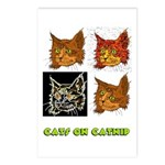 Cats On Catnip Postcards (Package of 8)