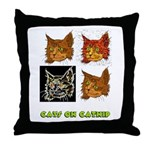 Cats On Catnip Throw Pillow