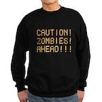 Caution Zombies Ahead Sweatshirt (dark)