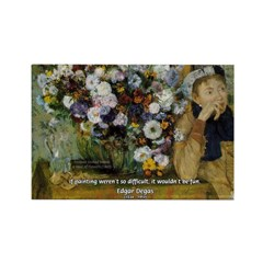 Degas Difficulty of Painting Rectangle Magnet (10