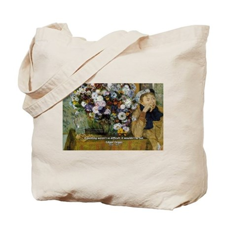 Degas Difficulty of Painting Tote Bag