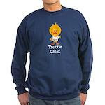 I Heart Spock Trekkie Chick Sweatshirt (dark)