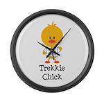 I Heart Spock Trekkie Chick Large Wall Clock